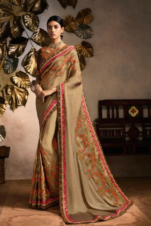 Chiku Rangoli Saree with Blouse