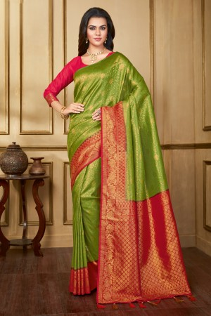 Liril Banarasi Silk Saree with Blouse