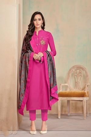 RaniPink Jam Cotton Churidar Suit