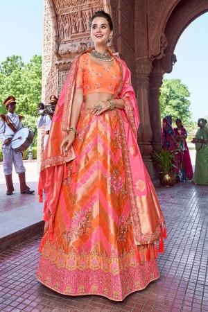 Pink & Fenta Silk Lehenga Choli