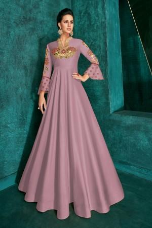 Lavender Silk Gown