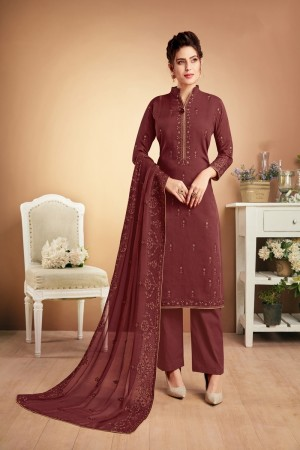 Scarlet Muslin Plaazo Suit