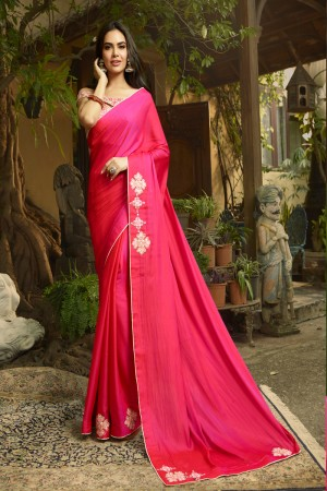 RaniPink Fancy Fabric Saree with Blouse