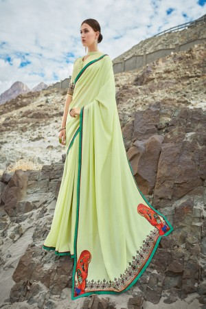 Liril Shahi chiffon Saree with Blouse