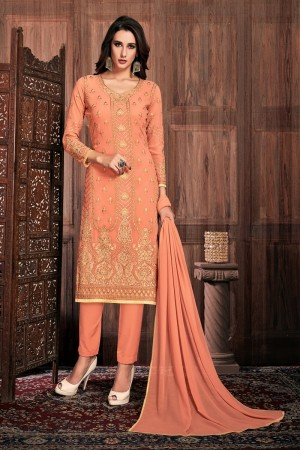Fenta Georgette Churidar Suit