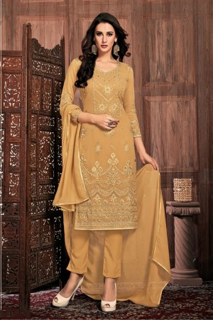 Chiku Georgette Churidar Suit