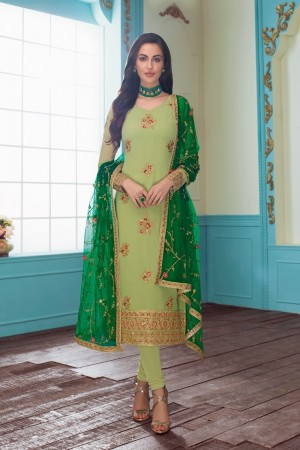 Pista Real Georgette Churidar Suit