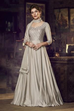 Dusty Cream Modal Satin Gown