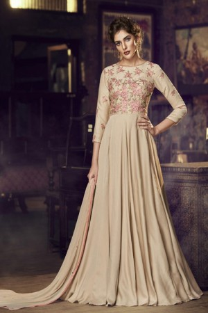 Chikoo Modal Satin Gown