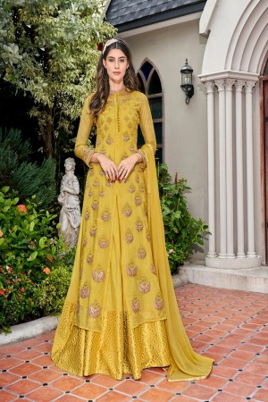 Yellow Tissue Salwar Kameez