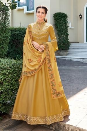 Mustard Heavy Soft Silk Salwar Kameez