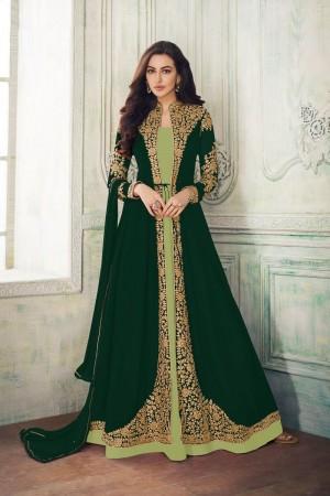 Pista & Green Georgette Salwar Kameez