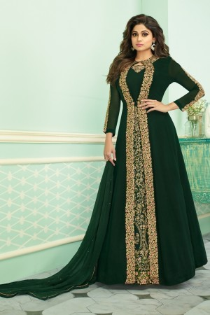 Green Real Georgette Salwar Kameez
