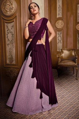 Light Purple Fancy Fabric Lehenga Choli