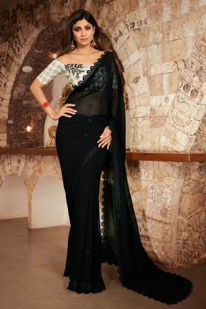 Black Fancy  Saree with Blouse