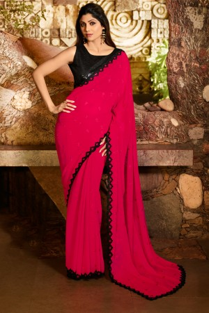 Coral Fancy  Saree with Blouse