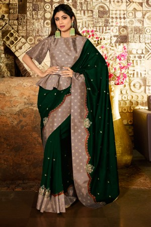 Green Fancy  Saree with Blouse