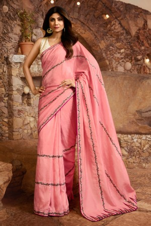 Pink Fancy  Saree with Blouse