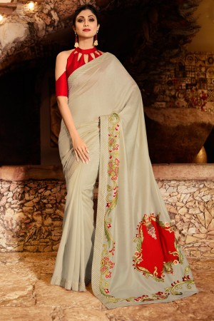 Beige Fancy  Saree with Blouse