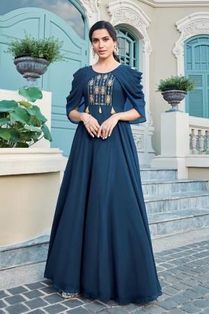 Aqua Georgette Gown
