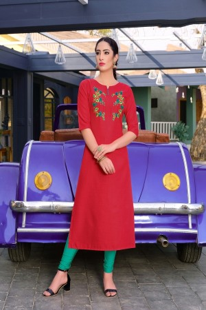 Red Rubby Silk Kurti