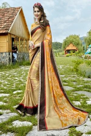 Lavish Multicolor Georgette Printed  Saree