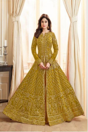 Mustard Royal Silk Salwar Kameez