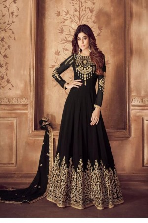 Black Georgette Salwar Kameez