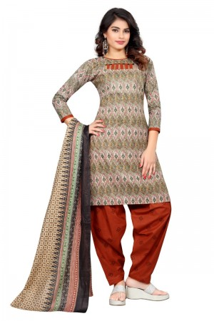 Ravishing Multicolor Cotton Bandhni Dress Material