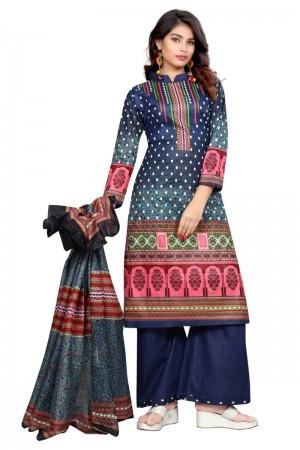 Fantastic Multicolor Cotton Bandhni Dress Material
