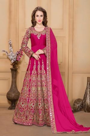 Rani Pink Taffeta Silk Salwar Kameez