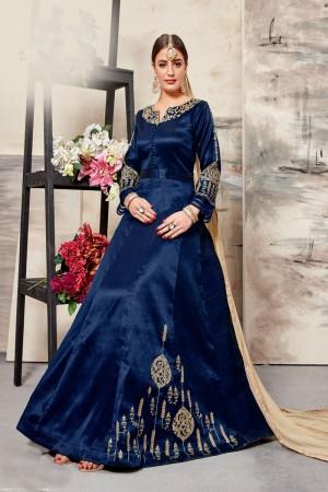 Blue Silk (Mulberry) Salwar Kameez