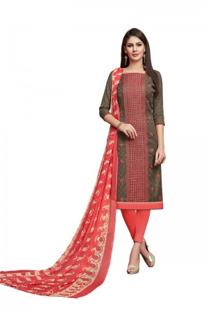 Mehendi Jacquard dress material