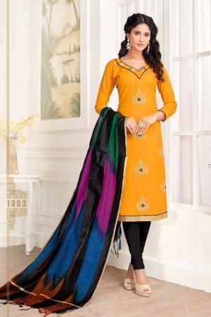 Mustard Pc Cotton dress material