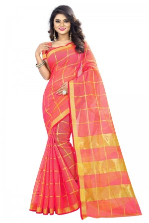 Elegant Latest Women thnic Piech Color Manipuri Coton Silk Banarasi Saree