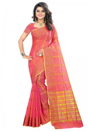 Contemporary Latest Women thnic Piech Color Manipuri Coton Silk Banarasi Saree