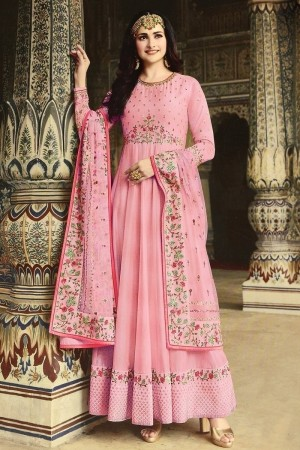Pink Heavy Dola Silk Salwar Kameez