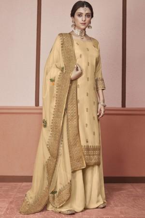 Chiku Heavy  Dola Silk Salwar Kameez
