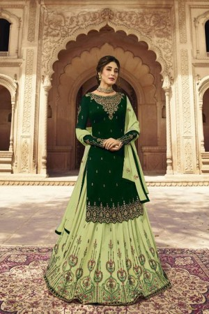 Dark Green Heavy Faux Georgette Salwar Kameez