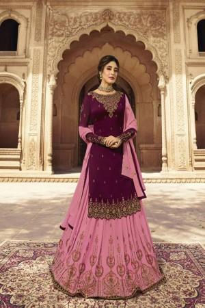 Rani Pink Heavy Faux Georgette Salwar Kameez