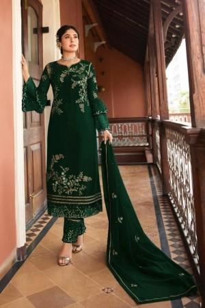 Green Heavy Rangoli Silk Salwar Kameez