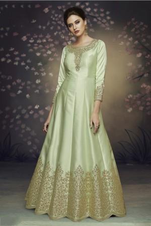 Pista Heavy  Dola Silk Salwar Kameez