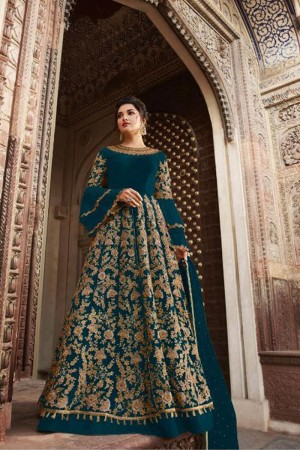 Rama Butterfly Net Anarkali Suit