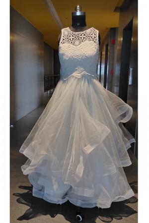 White Net Gown