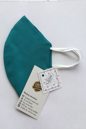 Teal Cotton Mask