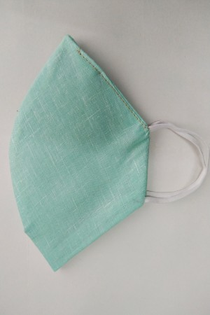Sea Green Cotton Mask