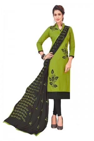 Mahendi South Cotton Slub Dress Material