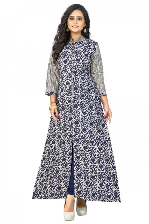 Awesome Offwhite Cotton Printed Kurti