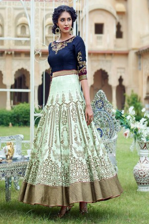 Multicolor Banglori and Embroidery with Handwork Suit
