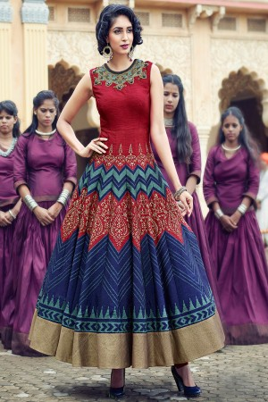 Multicolor Banglori And Handwork Suit